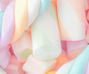 marshmallow, rainbow colors, and sweet image