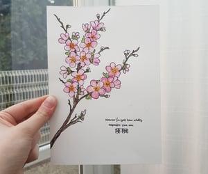 aquarell, art, and cherry blossom image