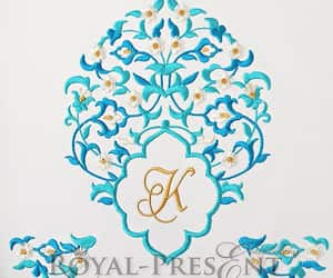 design, eastern, and machine embroidery image