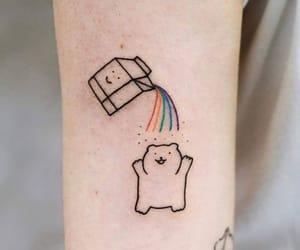 arco iris, milk, and tattoo image