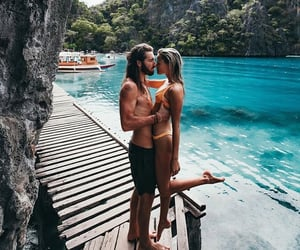 adventure, beach, and blue image