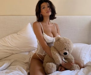 girls, teddy bear, and love image