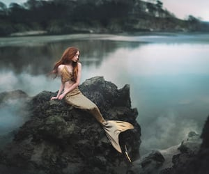 mermaid, fantasy, and lake image