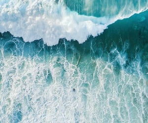 nature, ocean, and blue image