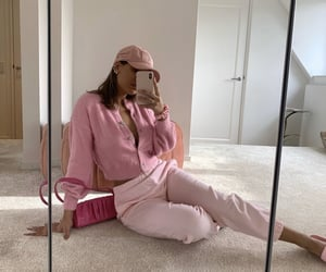 cardigan, fashion, and pastel image