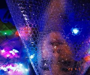 bored, huji, and fairy lights image