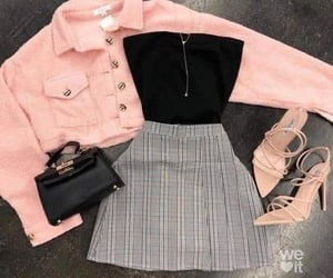 chic, clothes, and pink image
