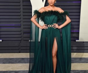 shay mitchell, dress, and green image