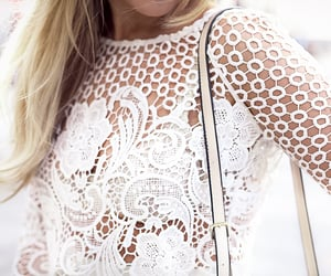 fashion blogger, lace, and style icon image