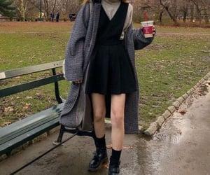 coat, rainy days, and comfy image
