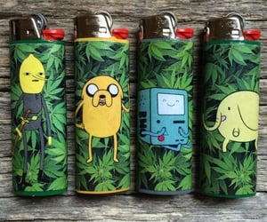 adventure time, weed, and lighter image