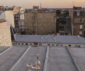 city, sunrise, and france image