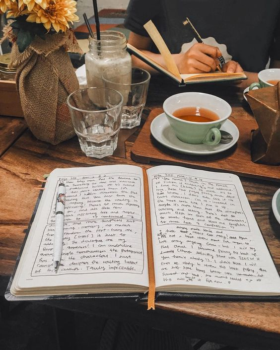 book, school, and tea image