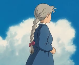 anime, clouds, and ribbon image