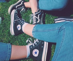 jeans, aesthetic, and converse image