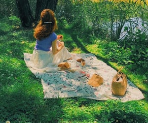 picnic, aesthetic, and girl image