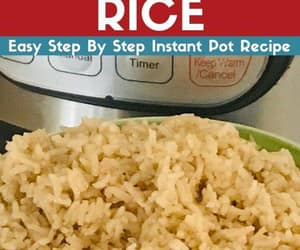 rice, brown rice, and instant pot image