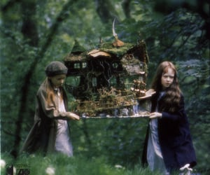 Fairies, fairy house, and fairy tale image