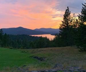 beauty, nature, and sunset image