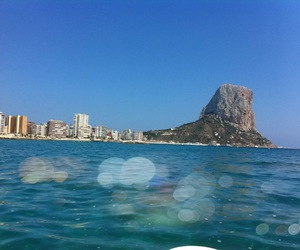 holidays, sea, and calpe image