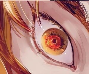 รูปภาพ aesthetic, eye, and gold