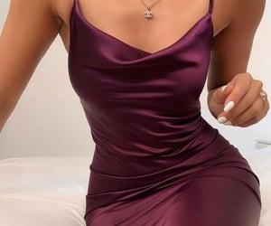 burgundy, stylé, and dress image