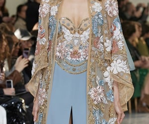 blue, dress, and model image