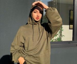 beauty, cool, and hijab image
