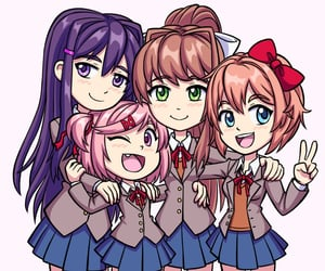 anime and doki doki literature club image
