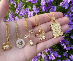 gold, jewelry, and necklaces image