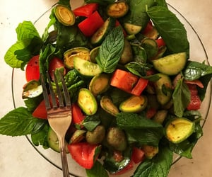 cucumber, fitness, and food image
