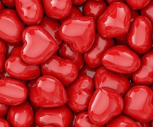 hearts, candy, and wallpaper image