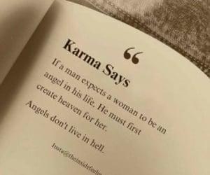 quotes, karma, and woman image
