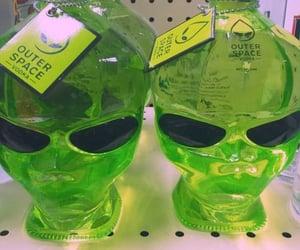 alien, green, and vodka image