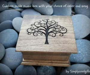 etsy, woodenbox, and wooden music box image