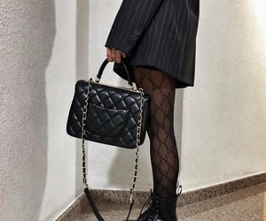 chanel, dr martens boots, and fashion image