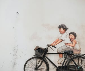 animation, art, and bicycle image