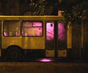 aesthetic, bus, and night image