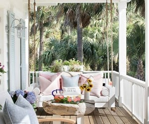 chilling, outdoors, and porch image