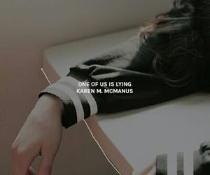 aesthetic, book, and one of us is lying image