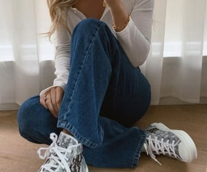 aesthetic, outfit, and denim jeans image