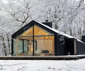 house, architecture, and snow image