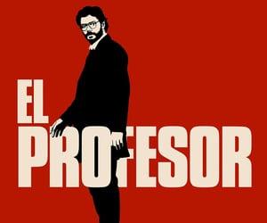 el profesor, la casa de papel, and netflix image