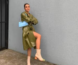 boots, outfit, and coat image