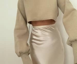beige, sweater, and cropped image