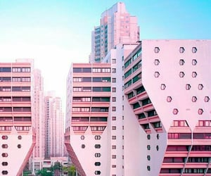 pink, city, and architecture image