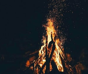fire, wallpaper, and night image