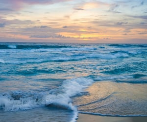 beach, ocean, and pastel image