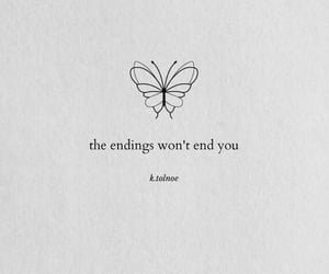 broken, thoughts, and butterfly image