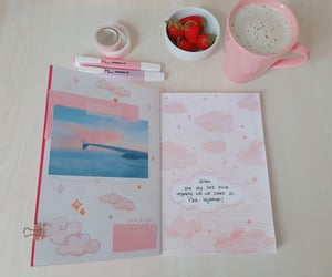 bullet, journal, and pink image